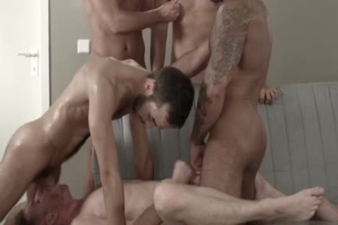 Muscle homosexual Sex Party With cumshot