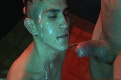 Tattoo twink fastened With Facial
