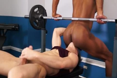 Muscle homosexual Interracial And cumshot