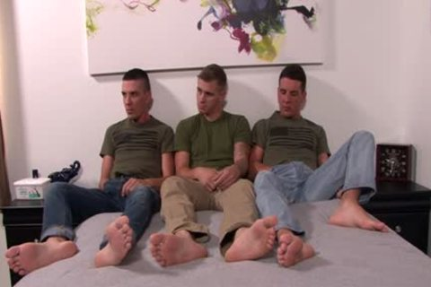 gigantic wang homo three-some With Facial