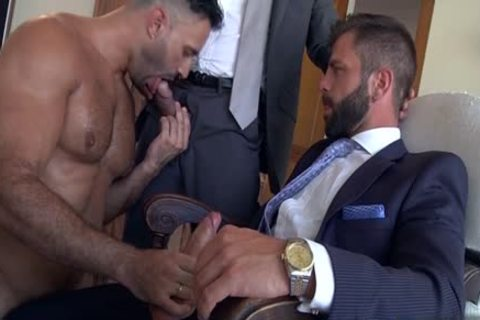 Muscle homo trio With cumshot