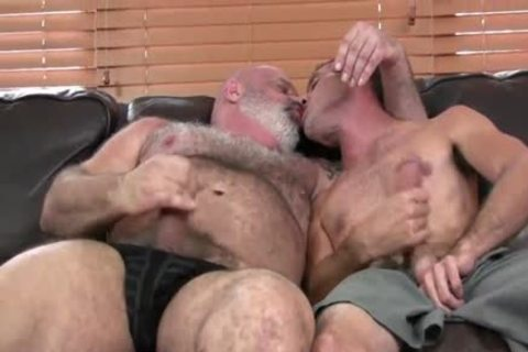 juicy hairy chunky daddy bangs Hard His Son