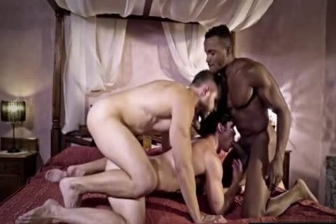 gigantic rod homo threesome And cumshot
