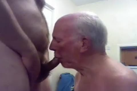 old man engulf And Play On cam