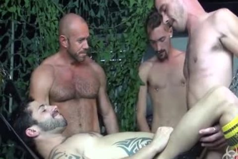 sexy raw Foursome group gangbang