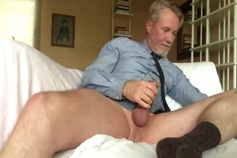 Suited Daddy dildo Jerkoff