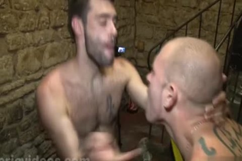 Tattoo gay 3some And Facial