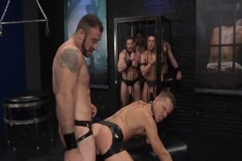 1-4 7 Leather gang bunch-sex