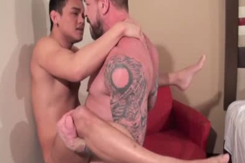 asian Daddy pooper job With sex cream flow