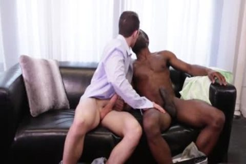 large 10-Pounder gay Interracial With goo flow