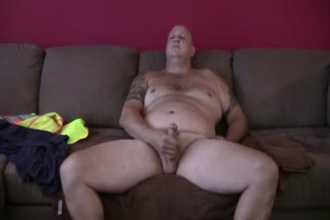 filthy Tattooed chubby Construction Worker Solo
