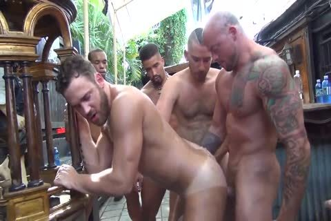 Filthy Gay Guy Gets Ass Banged In Gangbang