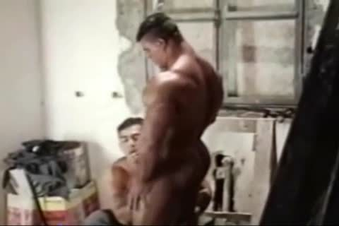 Brasil Bodybuilders giant booty poked By Hunk