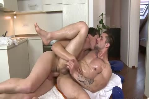three-15 4 Oiled Hunk & large penis man