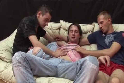 Three Homo males Take It In The butt
