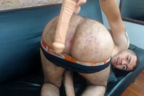 Colombian lad fucks His shaggy large butthole With dildo-Fingers, slutty large Pink asshole