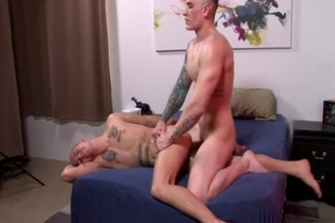 Muscle gay ass-copulation And ejaculation