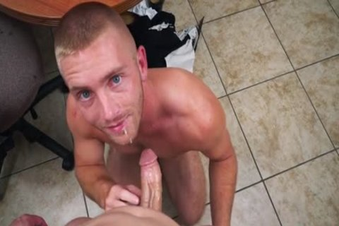 Muscle homo oral sex-job And Facial