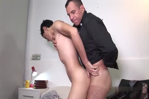 KNEELING previous to THE FATHER'S monstrous penis