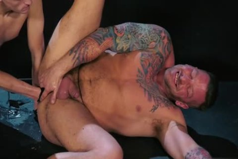 Tattoo military fetish with sperm flow