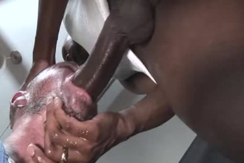 big 10-Pounder homosexual oral stimulation With cumshot