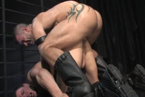 Muscle gay Flip Flop With ass semen flow