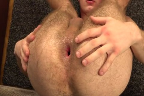 hairy homosexual Gaping With sex cream flow