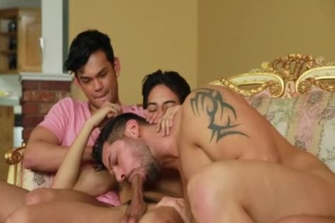 gay Ganbang oral job And anal plowing
