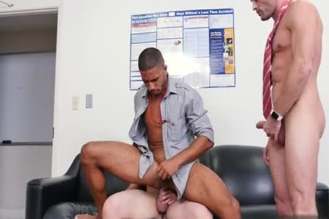 Muscle homo trio With Facial