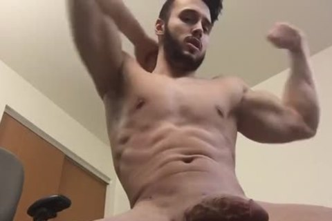 horny Hunk Shows Off His Body And Cums On Himself