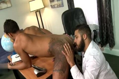 Latin gay blowjob With Facial