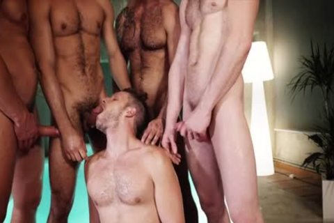 stunning homo three-some And sperm flow