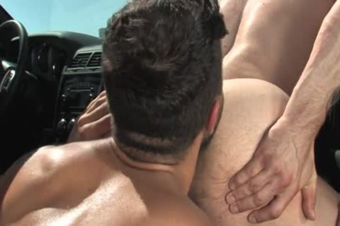 Muscle gay butthole invasion With Facial spooge