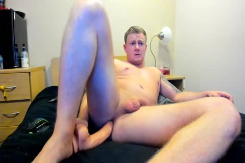 beefy British lad Plays With sex tool On web camera