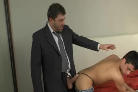 Straight throbbing cock Daddy Shows Bubble Bottom How To bone