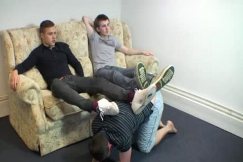 two Masters receive Their Feet Worshipped Part 1 (go To My Profile For Part two)