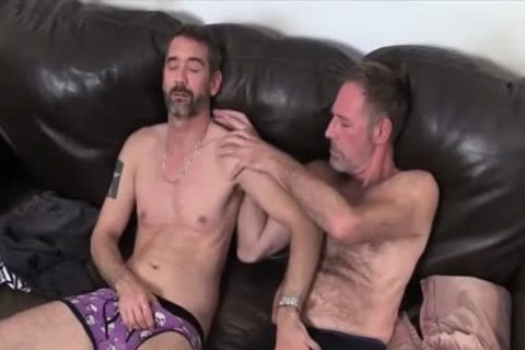 Two Dads slamming On The bed plowed
