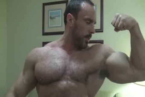 Verbal shaggy Bodybuilder Worship (no cum Or Full Frontal)