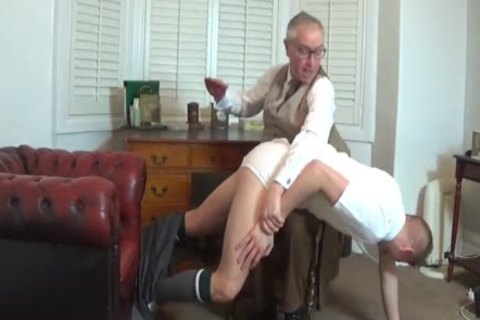 Bad Lad Spanked Over dad's Knee
