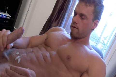 Philippe Lebrun Aka Brad Aka Kovi Lacroix - Works Out naked And Strokes His big schlong