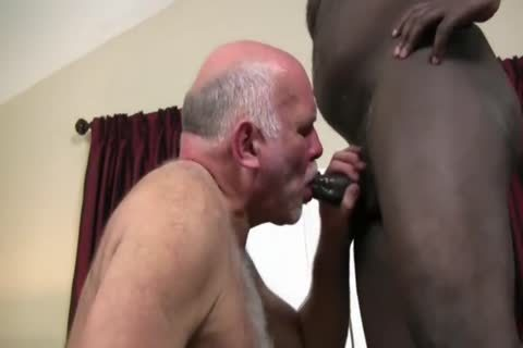 Interracial older couple pound bare