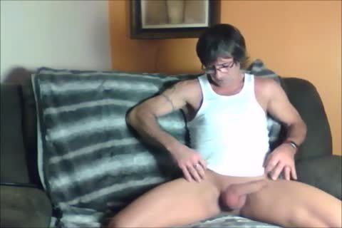darksome Haired Sugar Daddy likes To wank Off