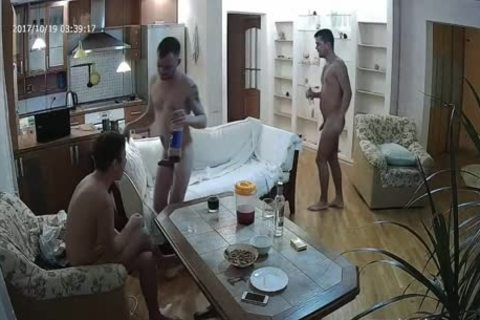 lovely Voyeur gay trio With a lot of oral sex enjoyment