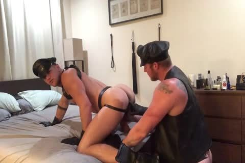 A pair's Leather sexual fantasy