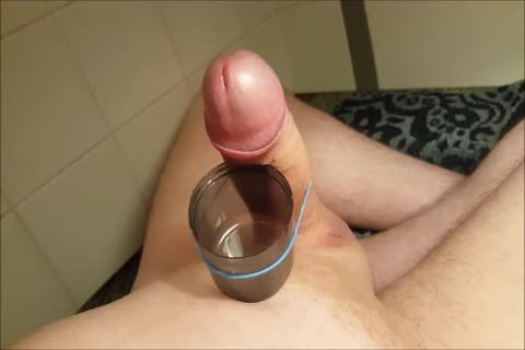 Edging And Filling A Cup With sperm