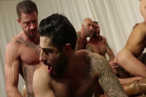 Rocco steel's Breeding Party Grows To Nine fellow orgy