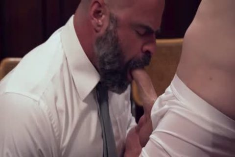 MormonBoyz - Burly Priest Fills A Missionary lad's butthole With Girthy knob