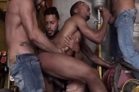 Four Males And One  anal