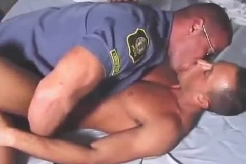 Bathhouse With stunning gay Cop
