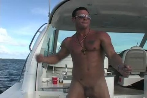 Javier naked On A Boat